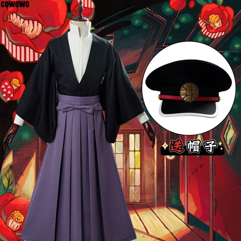 Anime! Toaleta Hanako-kun Yugi Tsukasa garnitur mundurek kimono przebranie na karnawał Halloween strój peruka dla kobiet darmowa wysyłka