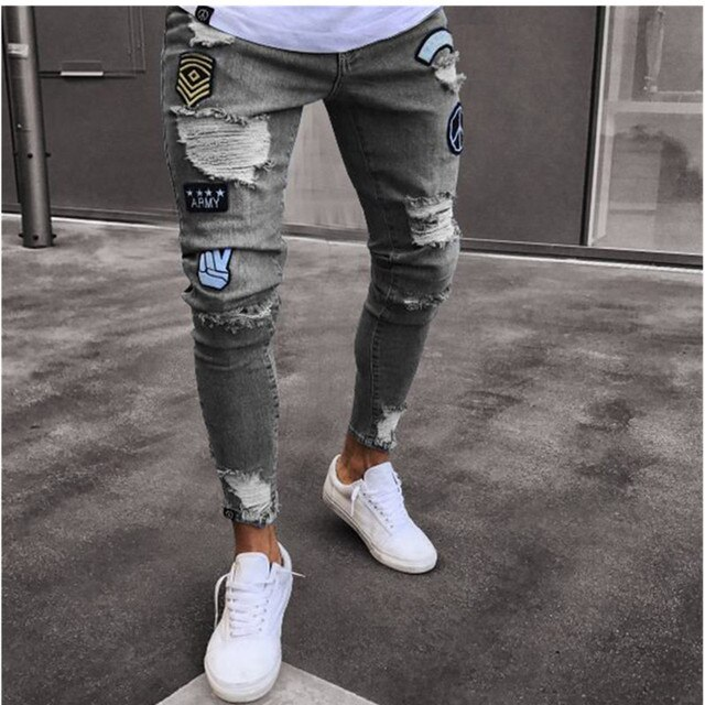 NEW Embroidered Fashion Street Jeans 4