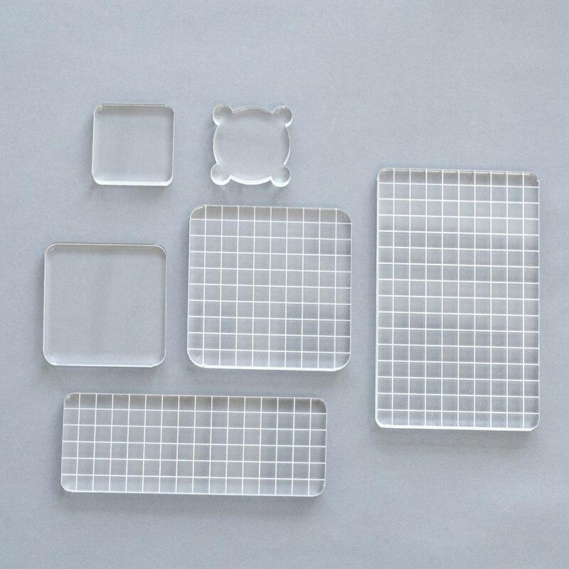 1pc Crystal acrylic stamp Transparent seal  creat Friend gift accessories  High quality plexiglass school Supplies  DIY