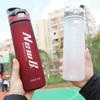750600ml whey protein powder sport shaker bottle for water bottles with straw outdoor travel portable drinkware tritan plastic