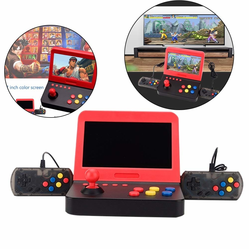 NEW AIWO G1000 7 inch Arcade Game DDR3 256MB Retro Machines for with 3000 Classic Game handle enlarge