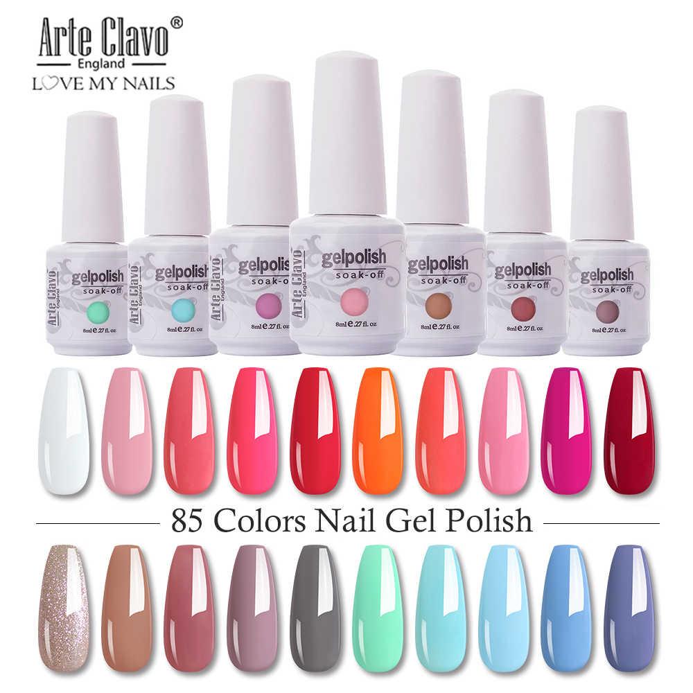 Arte Clavo 8ml Nail Polish Nail Gel Soak Off Led Uv Hybrid Gel Lacquer Nail Primer Gel Varnish Red Pink Glitter Nail Makeup Nail Gel Aliexpress