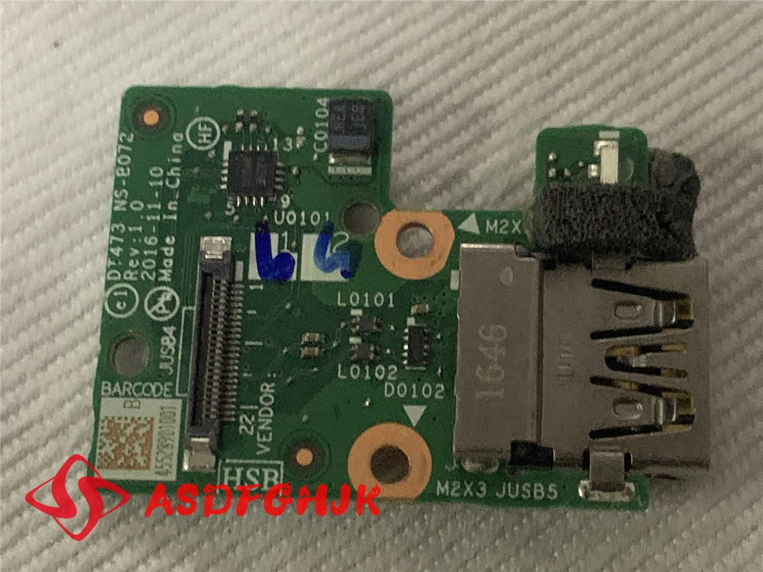 Genuine FOR LENOVO T470 T470P USB board DT473 NS B072 test good free shipping