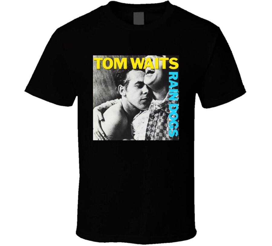 Nuevo Tom Waits, cubierta de álbum de perros de lluvia, Tops para hombres, camiseta de tamaño S-2XL, camiseta informal con estampado a la moda