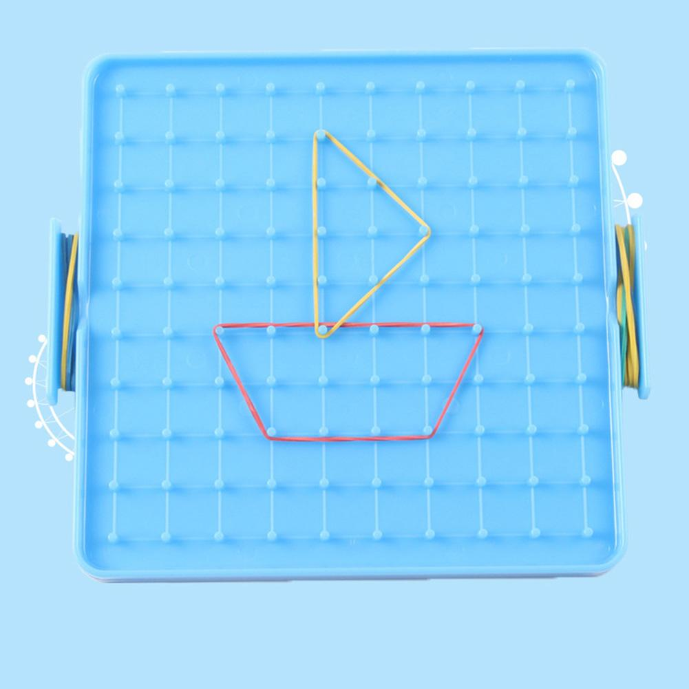 16x16cm dupla face geoboard unhas peg board bandas elásticas crianças auxiliar de ensino inteligência desenvolvimento brinquedos