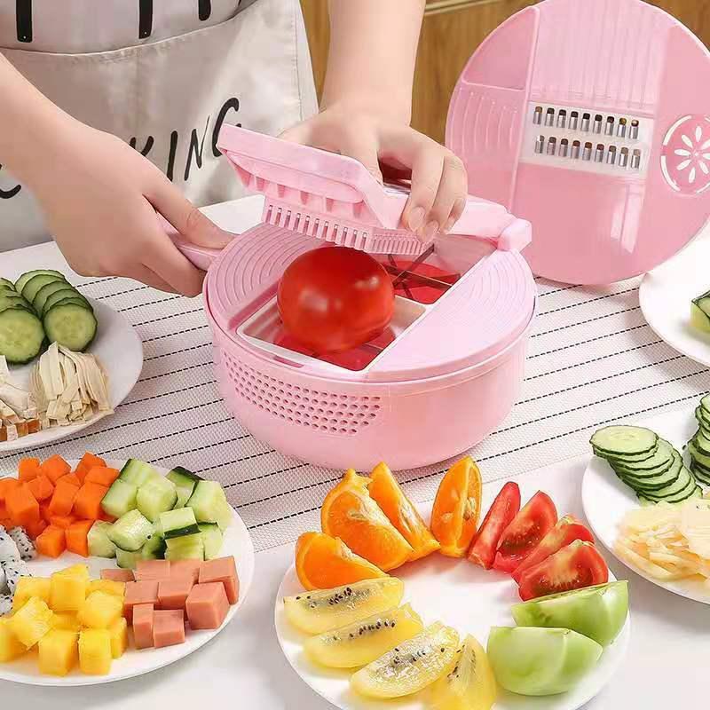 قطاعة الخضراوات متعددة الوظائف لتقطيع الفواكه وتقطيع وتقطيع وتقطيع القصاصات 13 في 1 أدوات اكسسوارات المطبخ