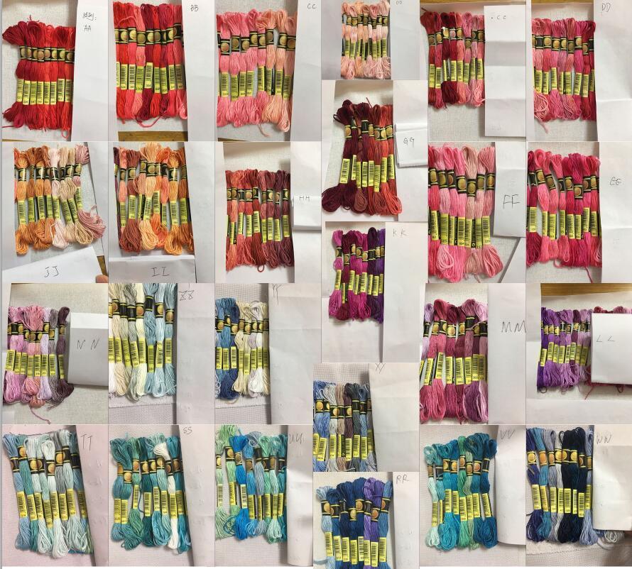 Cxc multicolorido 8 pçs semelhante dmc linha ponto cruz costura de algodão skeins bordado fio fio kit diy ferramentas de costura