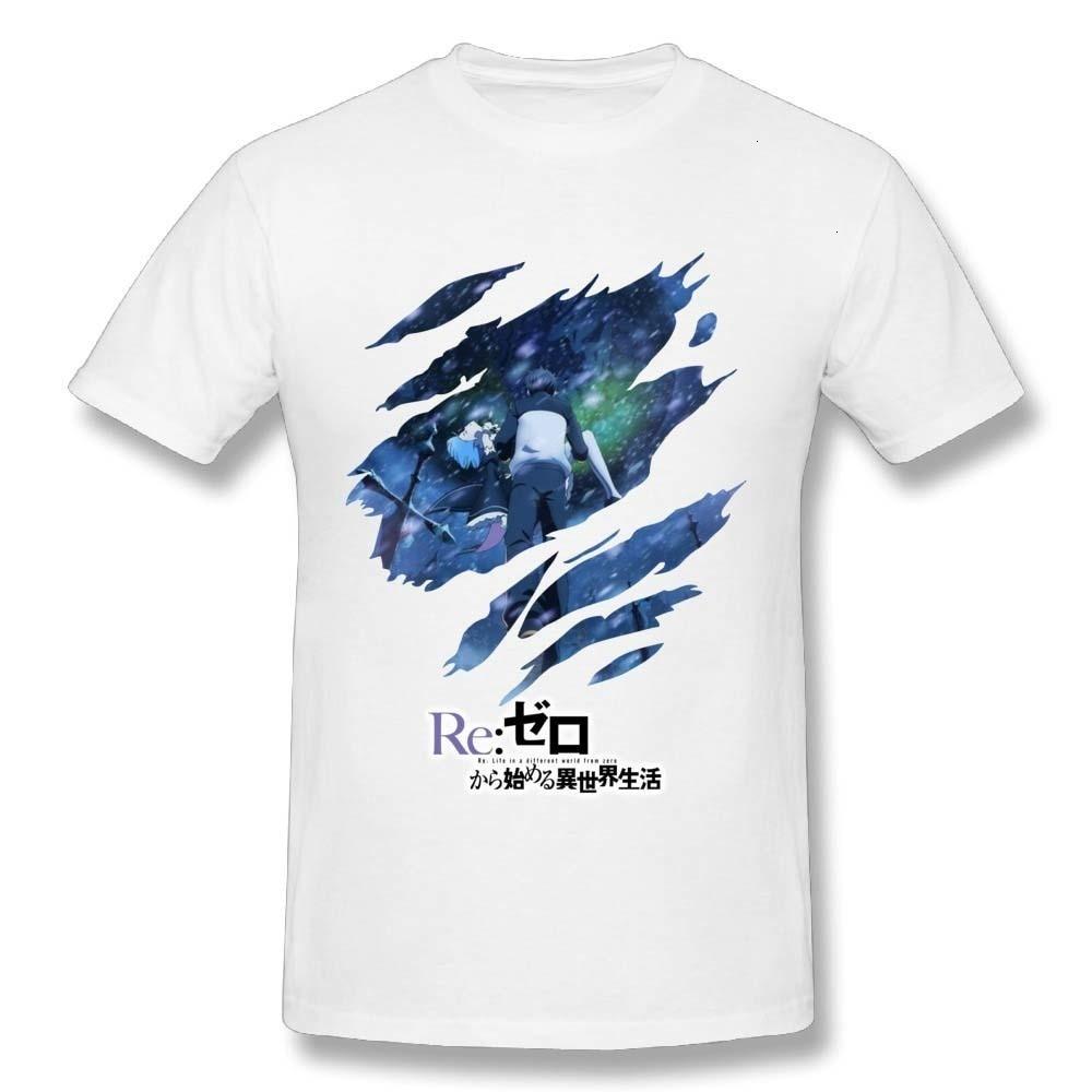HKFZ Cute Men Re Zero Starting Life in Another World T Shirt Fashion Anime Cartoon Comics 100% Cotton T-Shirt