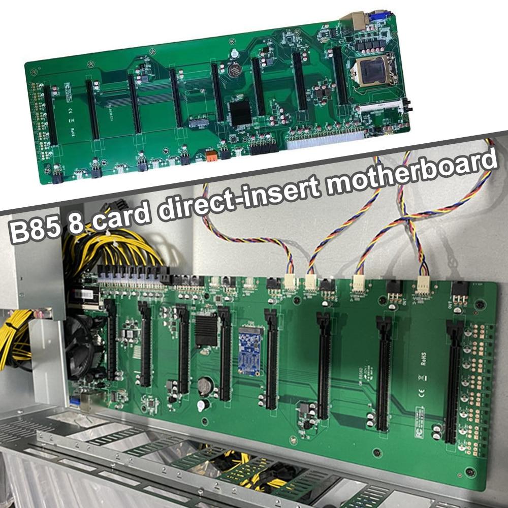 العلامة التجارية الجديدة B85 في خط لوحة أم للكمبيوتر BTC 8 بطاقات الرسومات فتحات DDR3 USB 3.0 SATA 3.0 التعدين اللوحة الرئيسية LGA 1150 CPU ETH