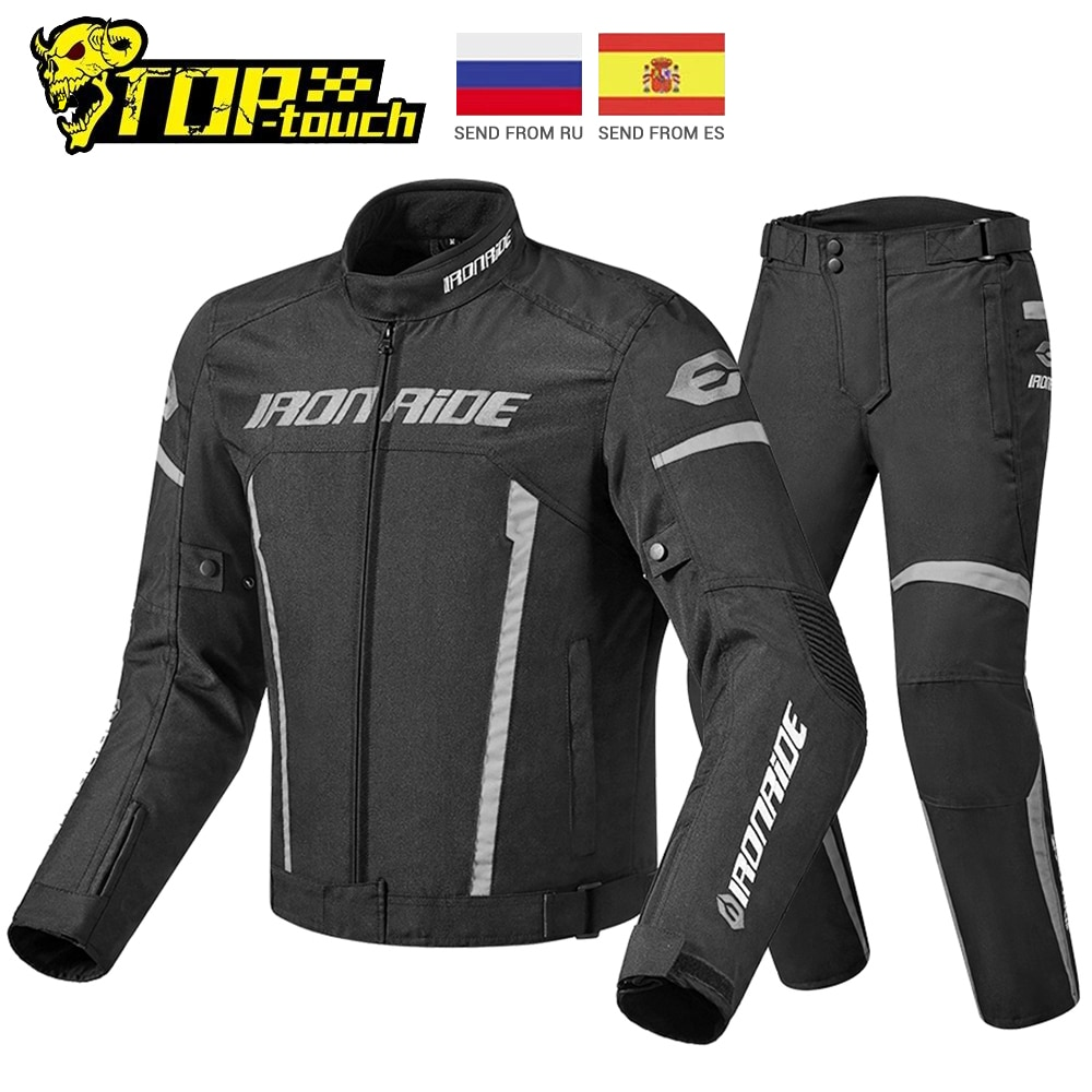 IRONRIDE Waterproof Motorcycle Jacket Set Riding Racing Moto Jacket Body Armor Protective Gear Motocross Jacket Motorcycle New