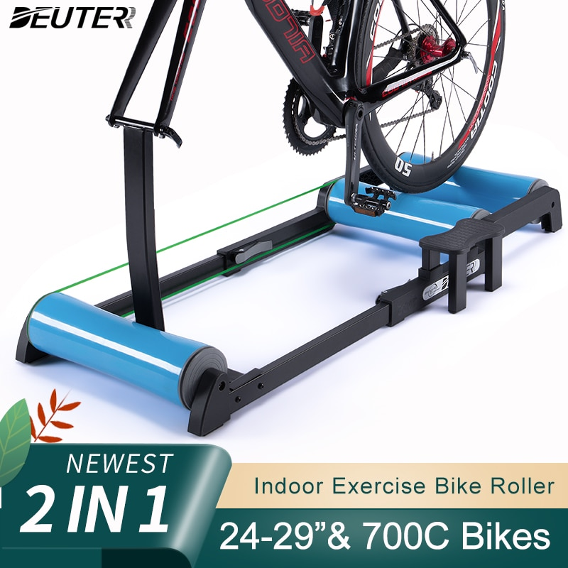 Indoor Bicycle Roller Home Trainer Mountain Road Bike Roller Stationary Bike Stand Exercise For 24-29
