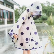 Poncho transparente, impermeable, chaqueta, capucha, chubasquero transparente, impermeable para niños y niñas, chaleco de PVC para mujer, ropa de lluvia Longue AD50RC