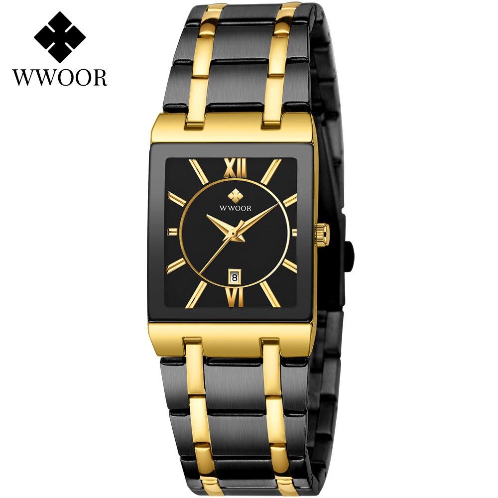 Vestido de Quartzo Relógio de Pulso Luxo Ouro Pulseira Feminina Relógios Nova Wwoor Marca Superior Moda Praça Senhoras Relógio Feminino Casual Esportes