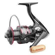 Moulinet de pêche tout métal bobine filature bobine Max glisser acier inoxydable poignée Stable ligne bobine accessoires de pêche en eau salée