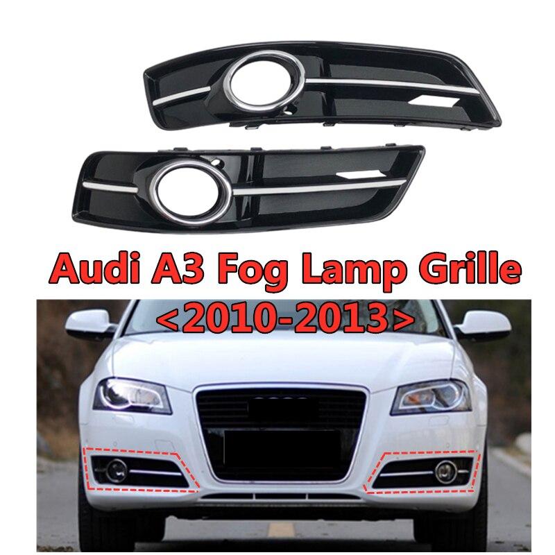 ABS parrillas Facelift frente del coche inferior del parachoques reemplazar accesorios para Audi- A3 de la luz de niebla de la parrilla de 2010, 2011, 2012, 2013 cubierta de luz antiniebla