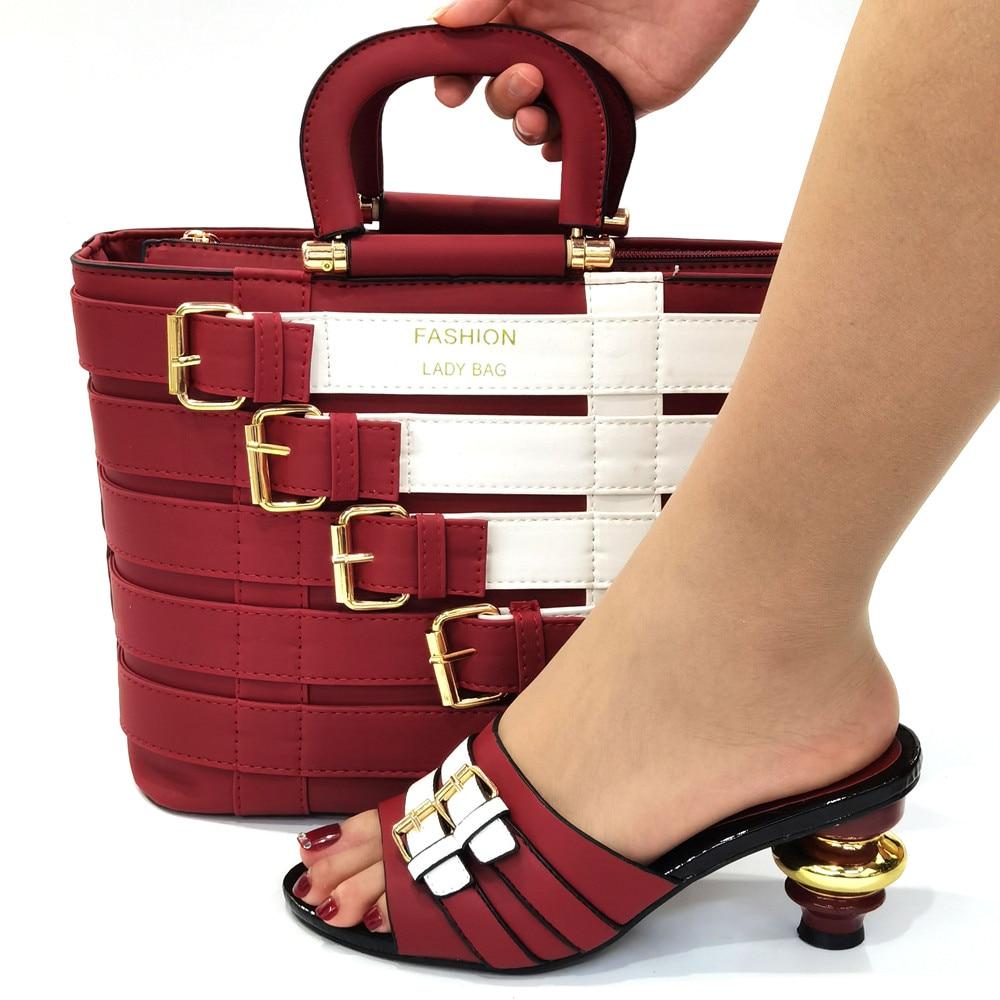 Doershow الأحذية الإيطالية ومجموعات حقيبة للحفلات المسائية بالحجارة حقائب يد جلدية الإيطالية أكياس المباراة! HOP1-25