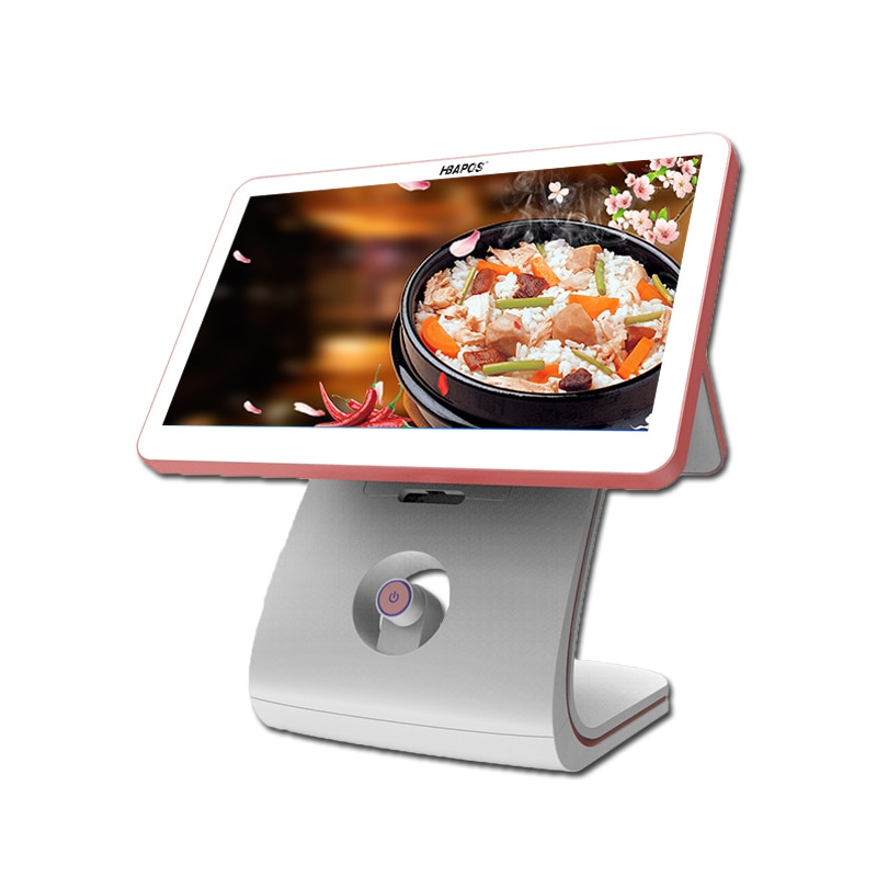 Pos Terminal for Touch Screen Dual Display Retail Cash Register 15.6 Inch Windows Pos Machines For Restaurant And Retail Indust