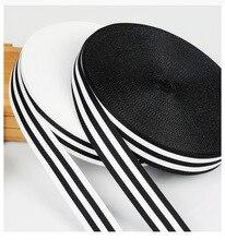 10M Doppelseitige Streifen Schwarz Und Weiß Streifen Ripsband Vertikale Streifen Welle Band Bogen Band Fischgräten Fabic Wrap band