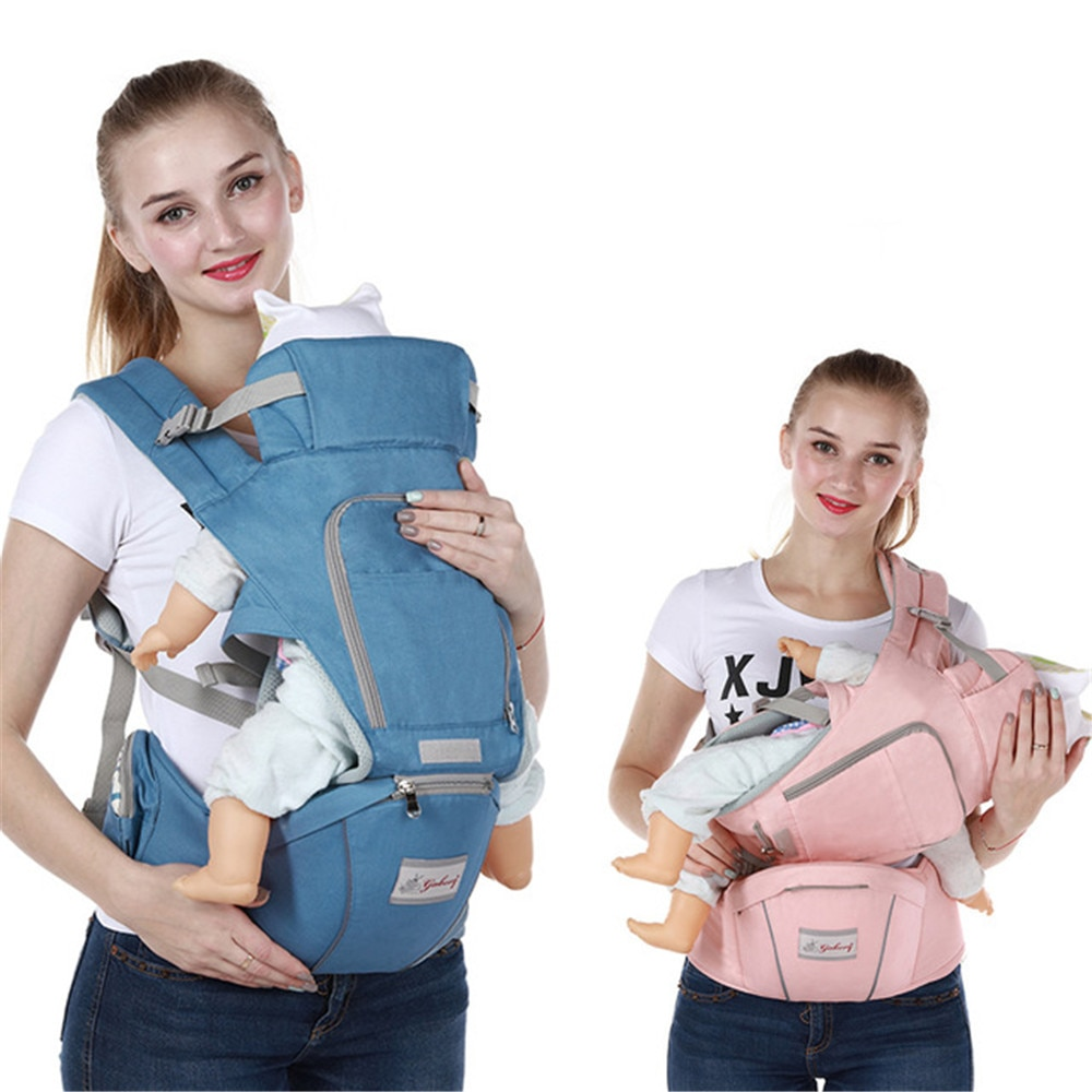 Baby Hipseat Ergonomic Baby Carrier Soft Cotton 3 in 1 Safety Infant Newborn Hip Seat Sling Front Facing Kangaroo Baby Wrap