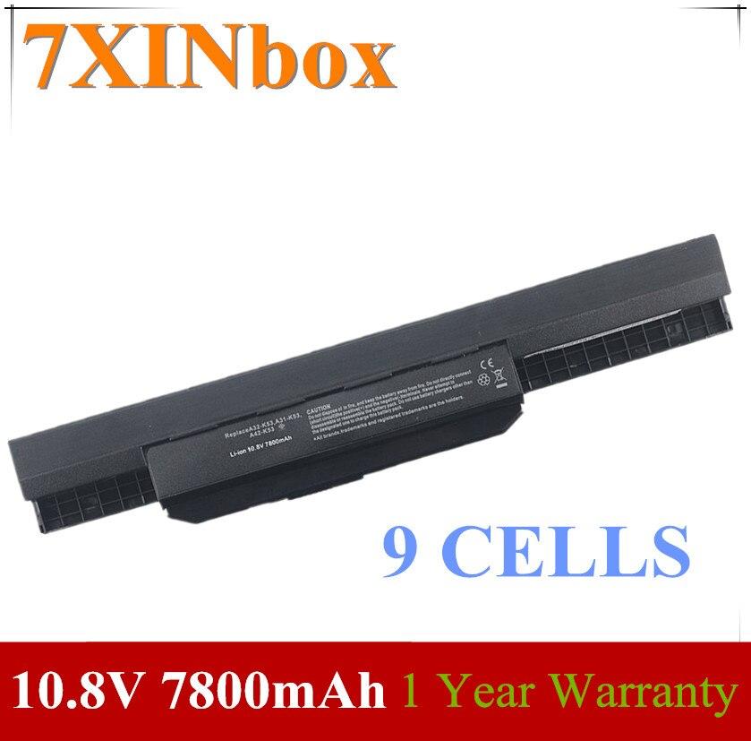 7XINbox 10.8V A31-K53 A32-K53 A41-K53 A42-K53 Battery For Asus A43 A53 A54 A83 K43 K53 K53S P43 P53 X43 X44 X53 X54 X84 P43JC