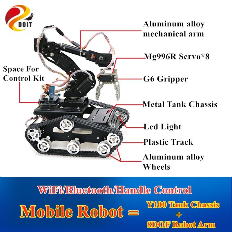 Мобильный робот-рычаг с Wi-Fi/Bluetooth/ручко