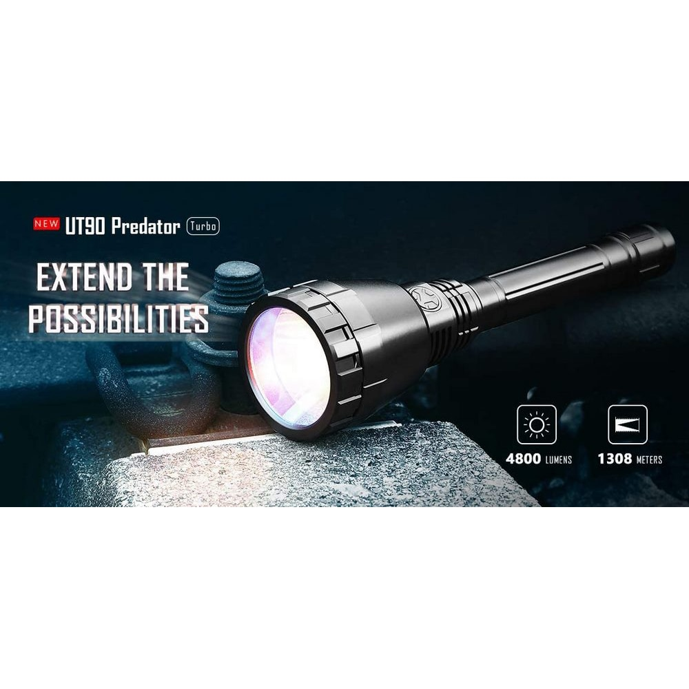 1308M Super Bright-IMALENT UT90 Tactical Flashlight 4800 Lumen LED Tactical Flashlight Outdoor Camping Light Waterproof and Zoom enlarge
