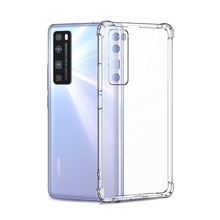 Luxury Shockproof Silicone Case For Huawei P40 P30 P20 Pro P10 Plus Lite Soft Clear Case For Huawei