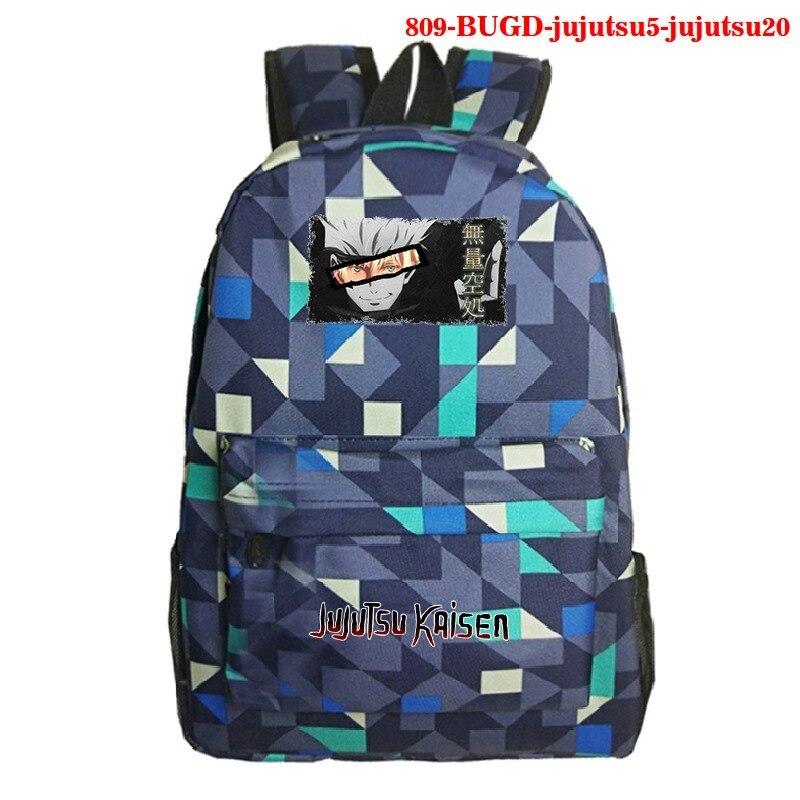 2021 Teenager School Bags Backpack for Girls Boys Jujutsu Kaisen Printed Children Anime Backpack Bag Mochila Canvas Backpack Men