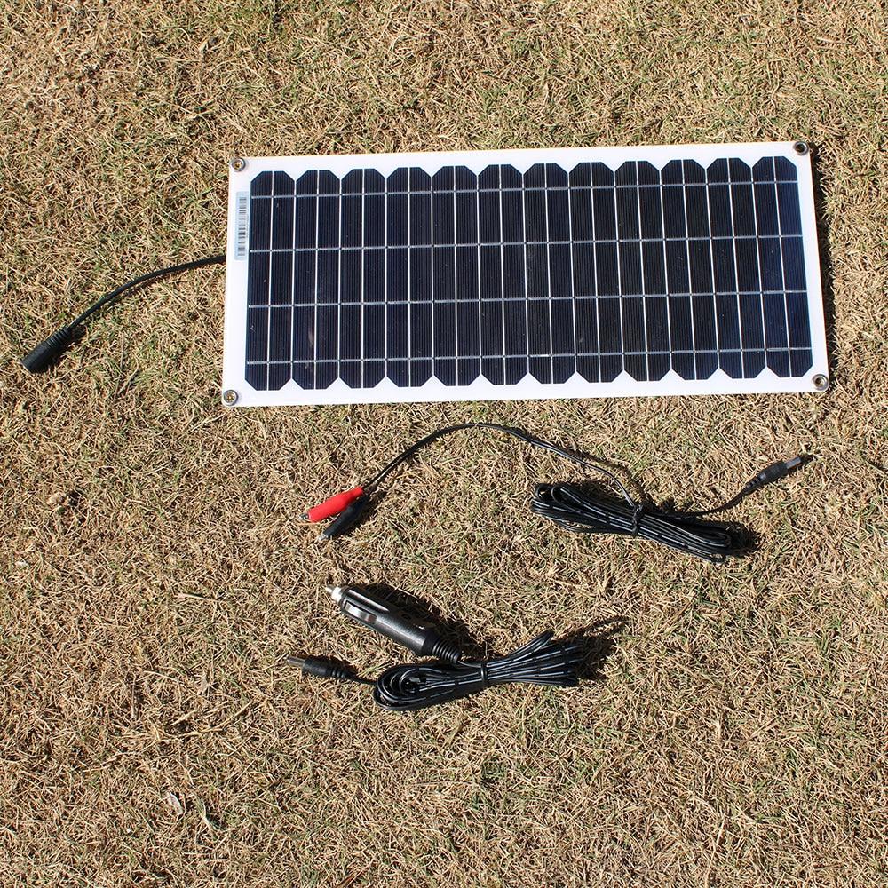 RG 12v 10w Transparent semi-flexible silicon Monocrystalline solar panel cell