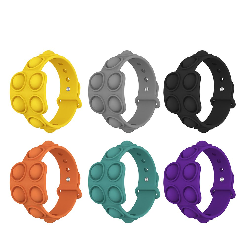 Портативная-Игрушка-для-снятия-напряжения-браслет-игрушки-антистресс-с-простыми-ячейками-сенсорные-мини-игрушки-снятие-стресса-силикон