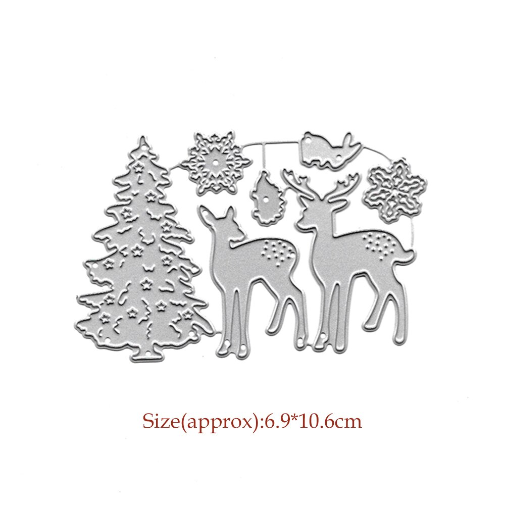 Scrapbooking Cutting Dies Christmas Tree Elk Metal Die Cut Stencil For DIY Paper Card Decor Craft Embossing Stamps Slimline Dies
