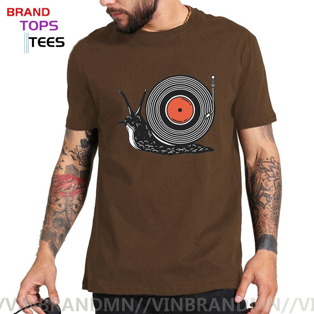Divertido ritmo lento T camisas hombres de Caracol de camiseta de registros...