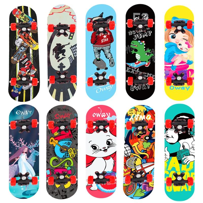 Детский мультяшный скейтборд 24 дюйма, скейтборд для начинающих, скейтборд из кленового дерева с двойным рокером, мини-скейтборд, уличная па...