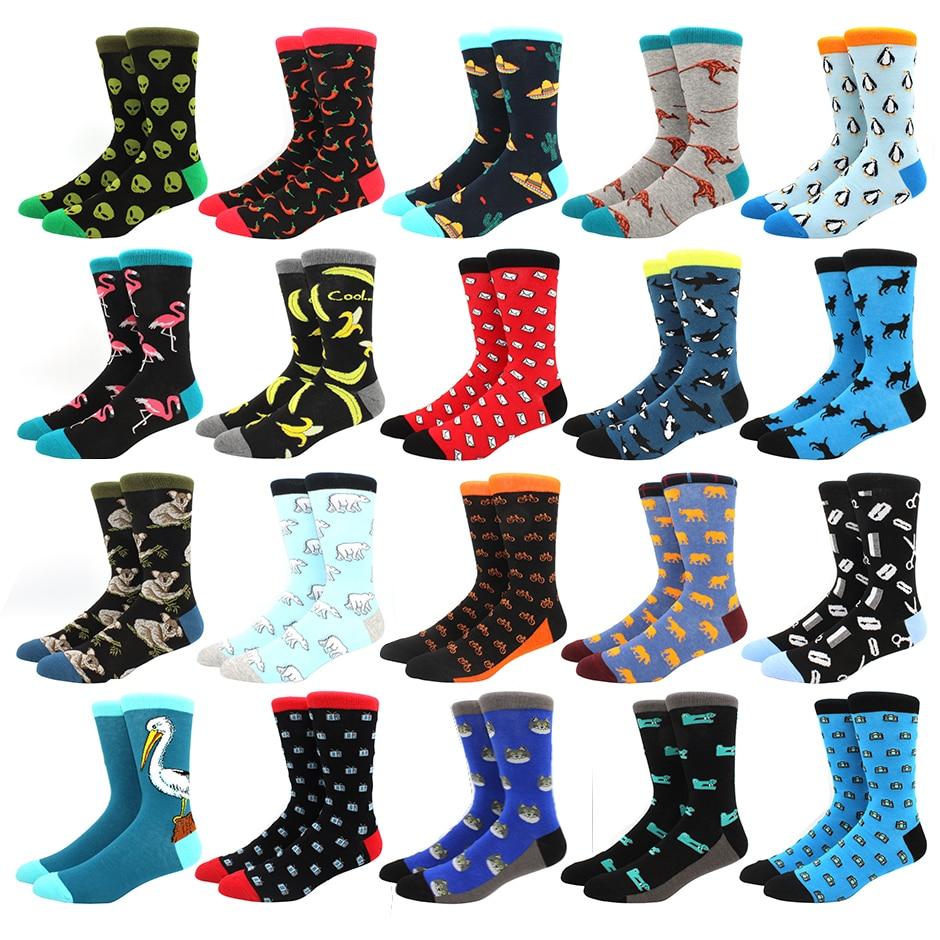 men socks cotton funny Alien socks for man women novelty casual dressing color crew socks for happy wedding accessories gift
