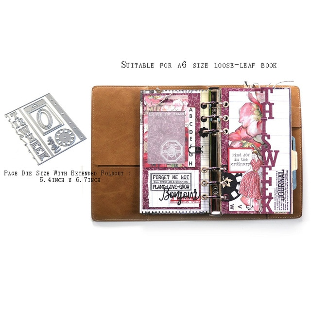Calendars-and-Planner-Embellishments used for scrapbook templates, DIY photo album cards, decorative embossed folders, die