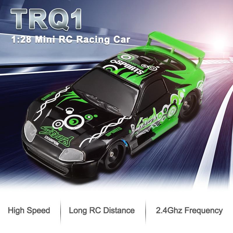 TRQ1 2.4G 1/28 Mini Drift RC Car High Speed Car Remote Control Car On The Control Toys  race For Chi