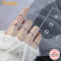 Trustdave 2019 женское открытое ювелирное изделие с 12 созвездиями из чистого серебра 100% пробы кольца на палец Лучший подарок DA348