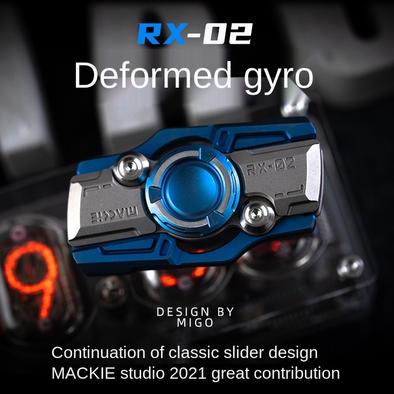 Rx02 Greedy 2 Generation Slider Fingertip Gyro Adult Pressure Relief Toy EDC High Speed Rotation