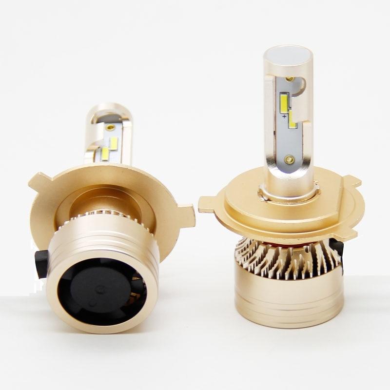 Bombilla led para coche A8 canbus H4 H7, faro LED para coche, 12V 6000LM, lámpara H3 H1 9005 HB3 9006 HB4 H8 H9 H11 Headlight