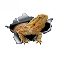 bearded dragon car sticker torn metal decal reflective stickers waterproof animal car styling pet decals13cm8cm