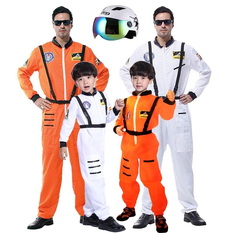 Детский костюм космонавта для взрослых, костюм пилота, вечерние костюмы Пурима, карнавальный костюм, шлем для мальчиков
