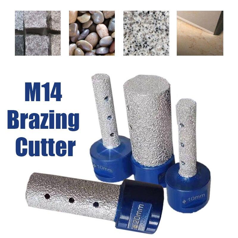 M14 Thread Vaccum Brazed Diamond Finger Bit Milling Cutter Brazing for Ceramic Tile Granite Marble Enlarge Shape 10/15/20/25mm