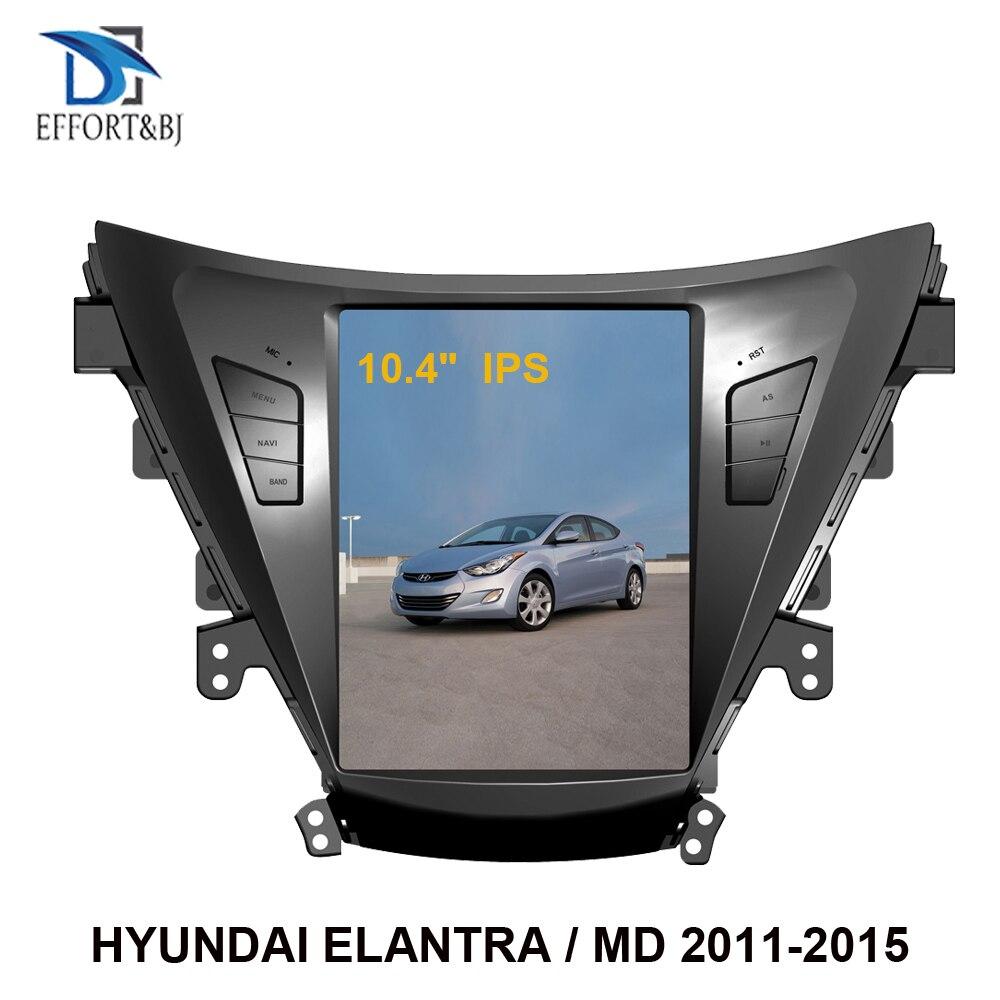 10,4 Android 9,0 estilo Tesla Gps para coche de navegación para Hyundai Elantra/Elantra MD/Avante MD 2011-2015 la radio del coche reproductor multimedia