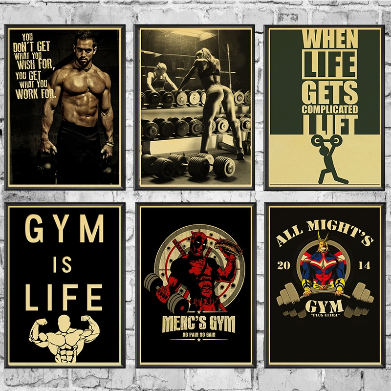 Arnold Schwarzenegger Poster Bodybuilding Fitness GYM Workout Painting Wall Art for Living Room Decor 42x30cm