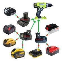Adapter DM18RL BPS18GL MT20RNL Gebruik Makita Dewalt Milwaukee Black Decker Porter-Kabel Stanley Li-Ion Batterij Voor Ryobi 18V tool