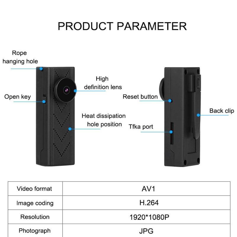 The secret of the human body WiFi IP mini camera DV P2P police pocket camera home security mini camera portableCamera Espion W enlarge