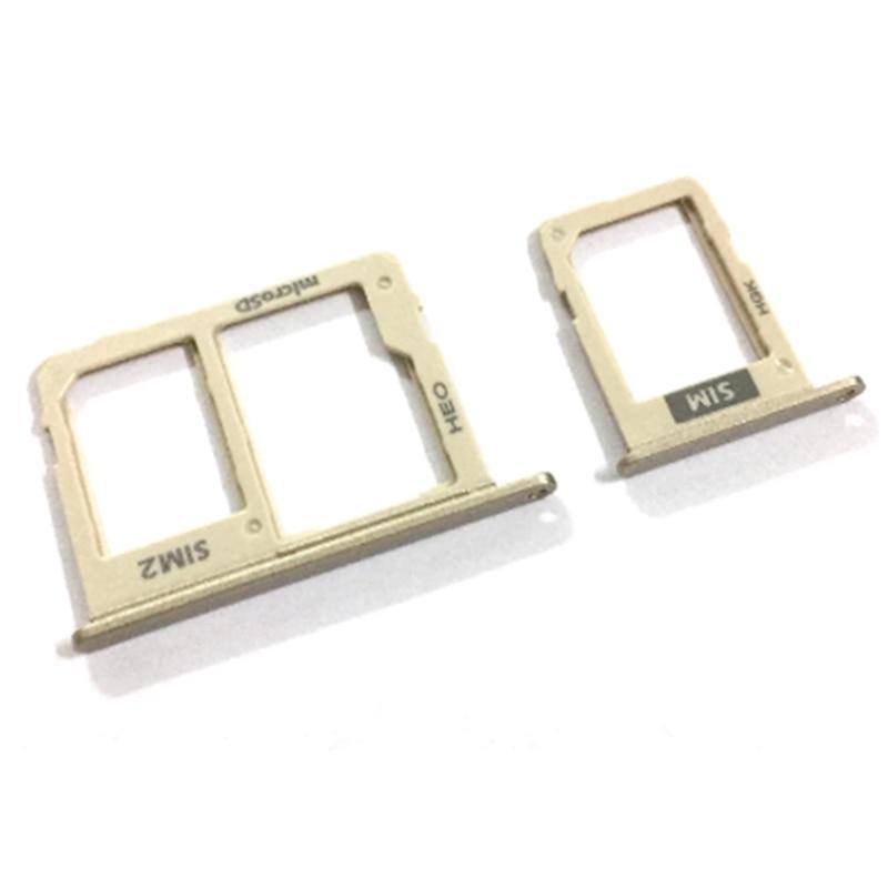 Holder Slot SD For Samsung Galaxy J810 J810F Dual&Single SIM Card Tray