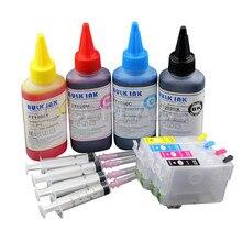 CISSPLAZA 1SET Europe T502XL 502xl recharge cartouche dencre avec + encre à colorant Compatible pour Epson XP 5100 5105 WF 2865 2860 imprimante
