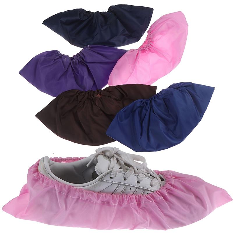 Cubierta de zapato elástico gruesa reutilizable, 1 par, cubiertas antideslizantes a prueba de polvo para habitación de estudiantes, cubiertas para pie de casa