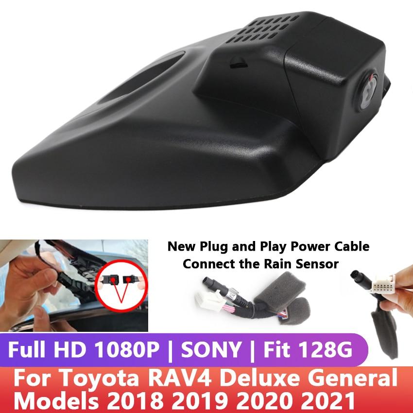 Автомобильный видеорегистратор HD с Wi-Fi, видеорегистратор с управлением ночным видением, приложение для телефона для Toyota RAV4 Deluxe, общие модел...